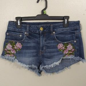 American Eagle Outfitters Cut Off Blue Jean Shorts